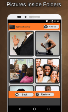 Recover images with DigDeep Image Recovery App