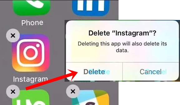 how to uninstall instagram on iphone
