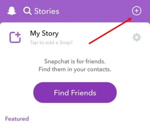create snapchat custom stories