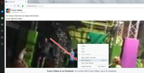 download video on Opera