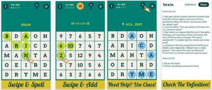 Brain Games: Words & Numbers for Brain Training