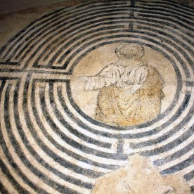 Affresco del Cristo nel Labirinto nel Chiostro di San Francesco