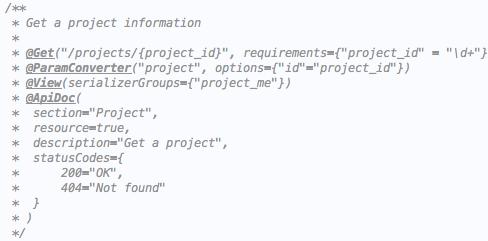 Пример аннотаций в Xsolla API