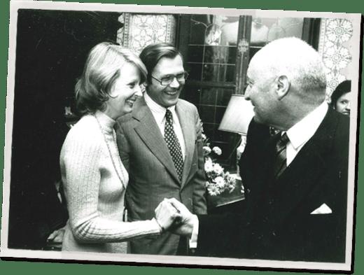 André de Staercke, Joyce Rumsfeld and Donald Henry Rumsfeld