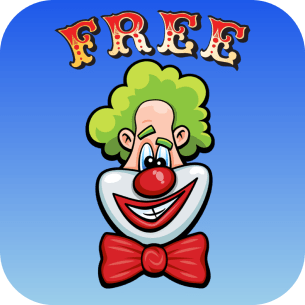 Laugh Clown Free iOS App icon with rounded corners.