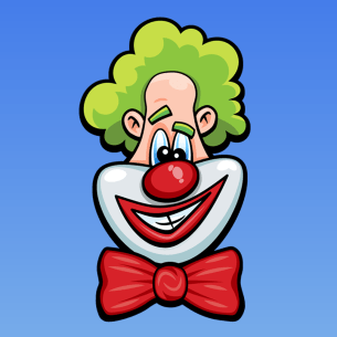 Laugh Clown Professional Balloon Dodger iOS app icon.