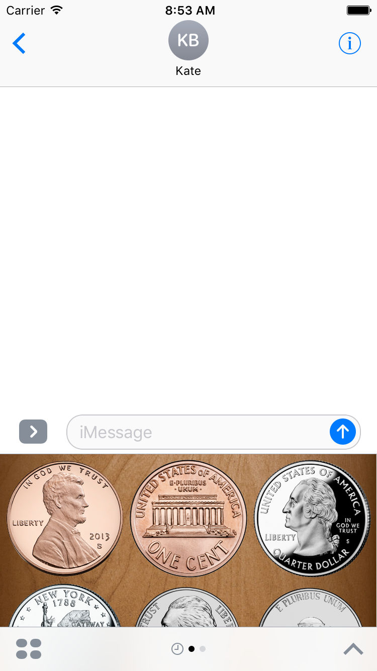 Flip a Coin App Messages Sticker pack screenshot.