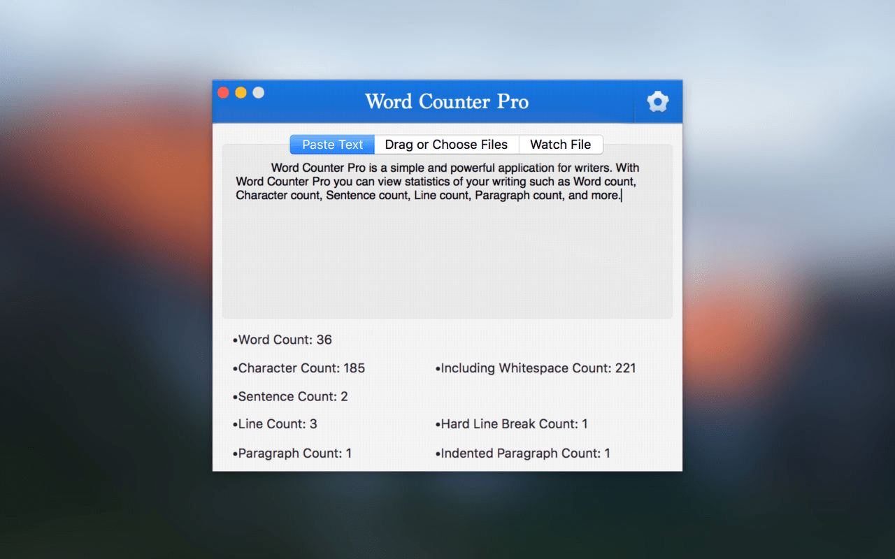 Word Counter Pro Mac App screenshot