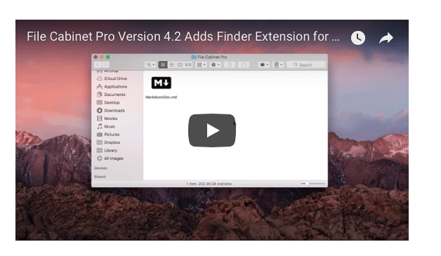 File Cabinet Pro Document creator finder sync extension video thumbnail.