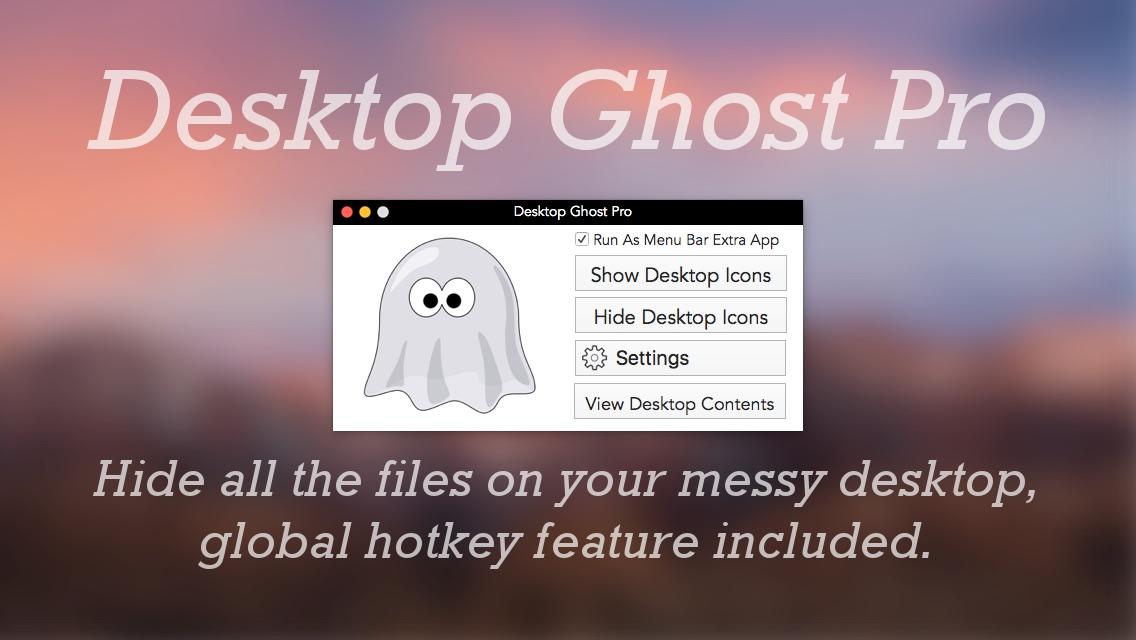 Desktop Ghost Pro mac app promo image.