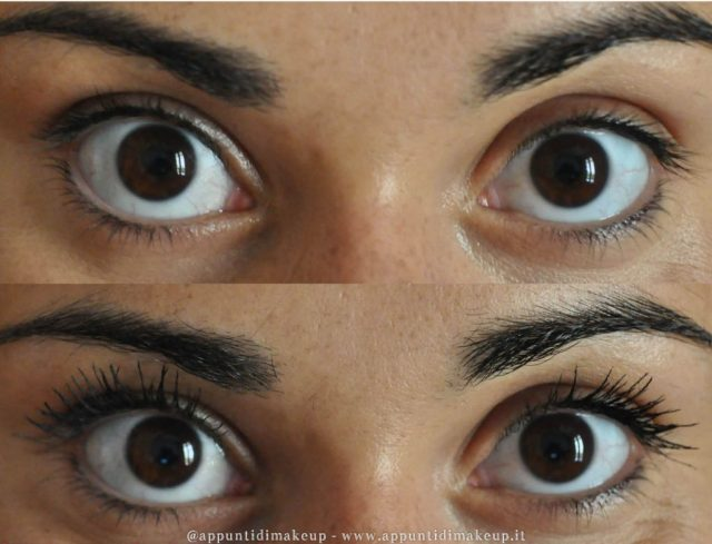 volumizing lash prima e dopo