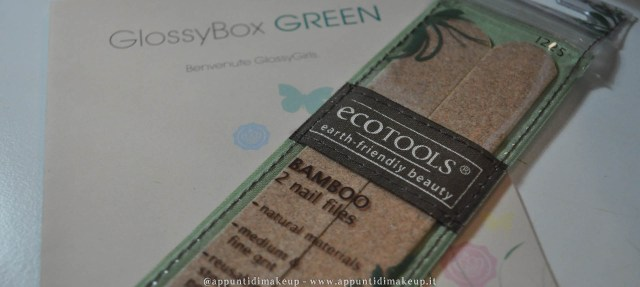 glossybox green ecotools lima unghie