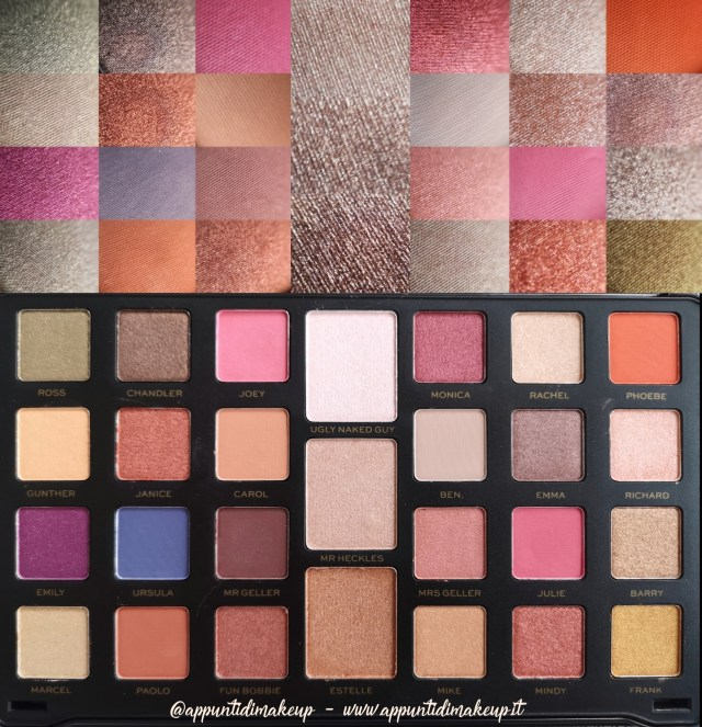 Friends x Revolution beauty collection: Flawless Limitless Eyeshadow palette