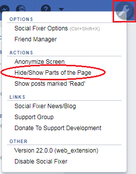 social fixer tab user interface
