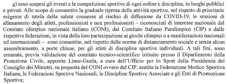 Aggiornamento 27.04.2020 - DPCM 26 APRILE 2020 | Calcio a 5 femminile – SOSPENSIONE Campionato CSI sez. Macerata '19/'20