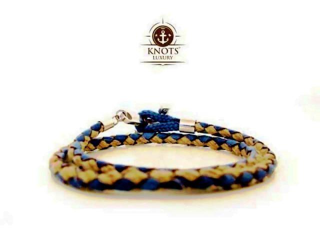 Knots Luxury, bracciali di corda intrecciata con chiusura ad ancora 4 bigiotteria