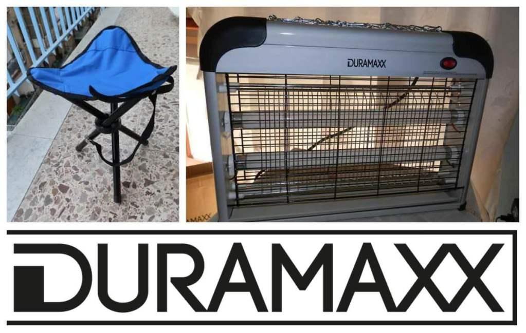 DURAMAXX Sgabello portatile e zanzariera da campeggio