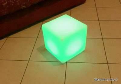 Cubo 16 LED colorati per interior design 5 arredamento