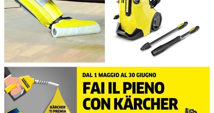 """Karcher: pulizie efficaci casa-giardino e concorso """"fai il pieno"""""""