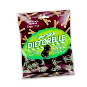 DIETORELLE caramelle, estratto di stevia nelle caramelle senza zucchero