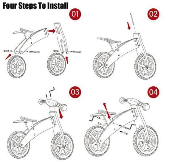 Balance Bike Baby Bici Senza Pedali