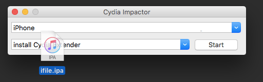 iFile iPA file to Cydia Impactor to install the app