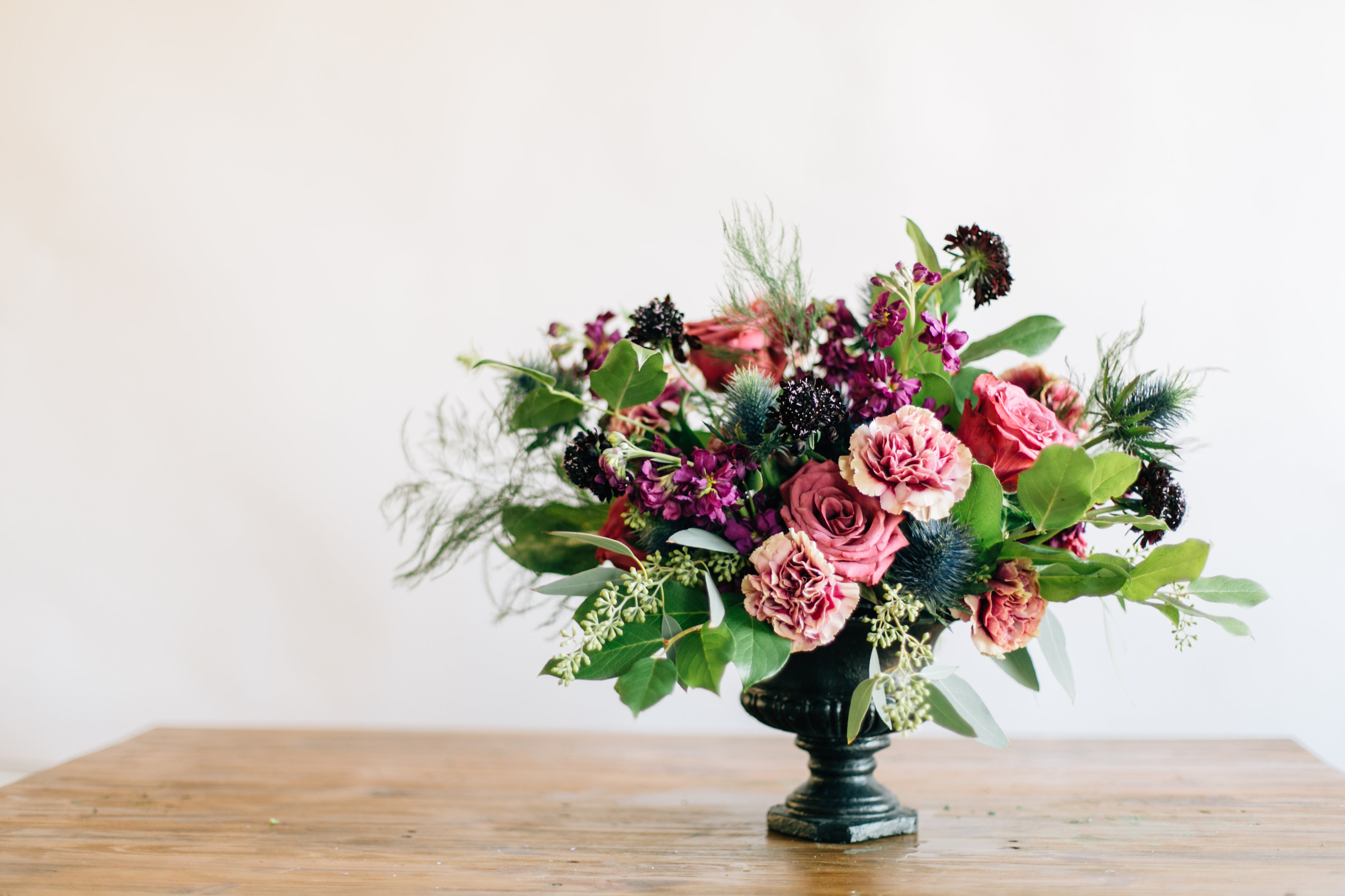 How To DIY A Floral Urn Centerpiece