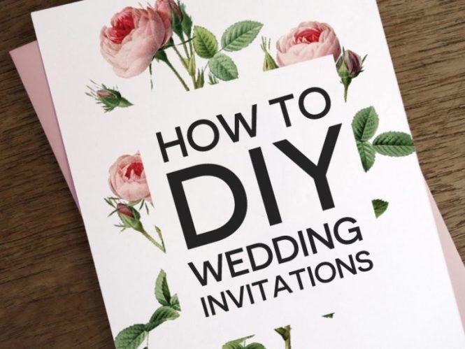 How To Diy Wedding Invitations