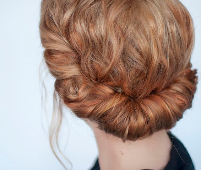 Curly Roll Bridesmaid Hairstyle Tutorial