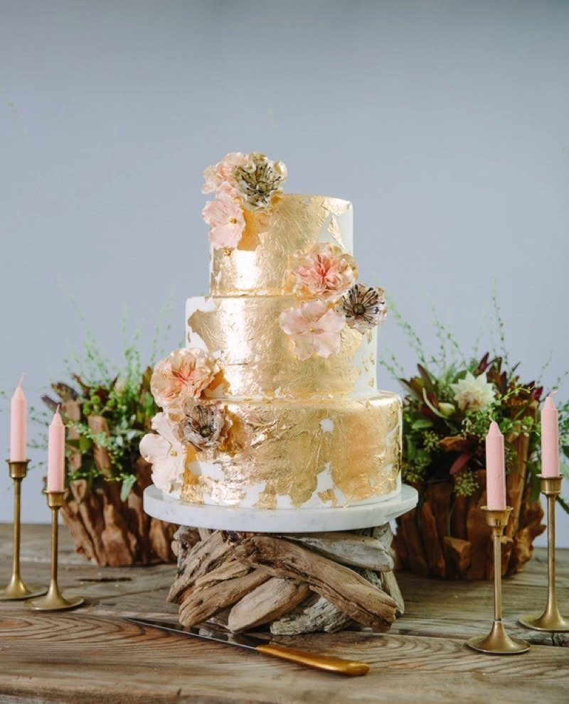 Wedding Cake Ideas That Are Delightfully Perfect   A Practical Wedding metallic wedding cake ideas
