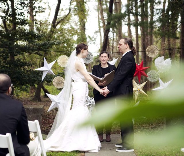 A Wedding Ceremony Taking Place In The Woods And Using A Wedding Ceremony Script