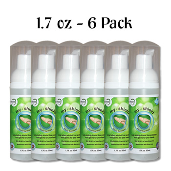 6 Pack My Shield Hand Sanitizer 1 7 Oz 50 Ml Apr Bio Tech