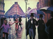 After Caillebotte - Rainy Day Paris, 2004; Screenprint; Image: 22 x 30 inches