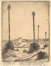 Desert, nd. Etching; 3 1/2 x 2 3/4 inches