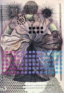 Radiolaria #3, 2007; Inkjet, screenprint, painting; Image: 20 x 13 inches