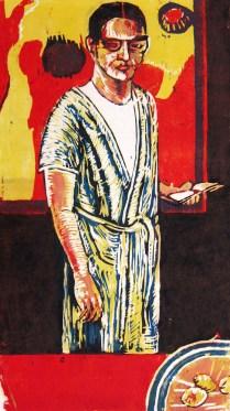 Ken Dixon (born 1943): Self-Study #6, 1966; plaster block reduction; image: 13 x 9 1/2 inches