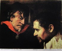 The Provost and the Painter, 2010; Screen print; Image: 15 x 17 1/2 inches