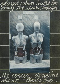 Time Machine, 1981; Photo emulsion monotype, colored pencil; Image:22 x 30 inches