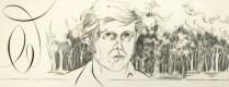 Evan Lindquist (born 1936); Document: Schema, 1976; Engraving; 8 1/4 x 21 inches
