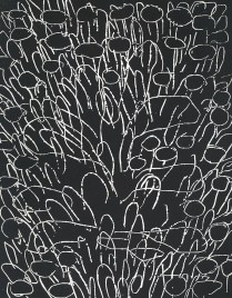 Shoal I, 1995; Relief etching; Image: 8 x 10 inches
