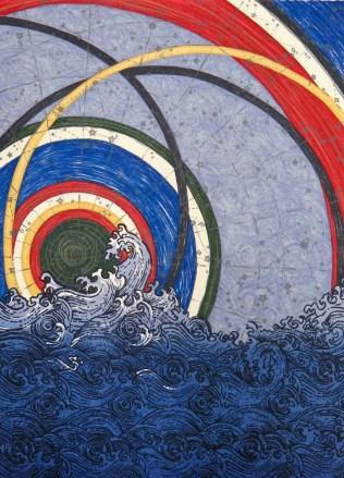 Seeking Equilibrium, 2013; Screen print; Image: 28x20 inches