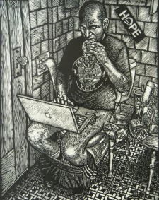 Carlos Barberena (born 1972); McShitter, from the portfolio, American Food, 2013; relief; Image: 19x15 inches