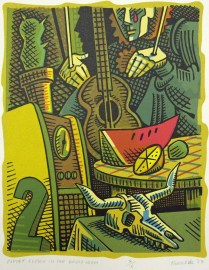 Puppet Clown in the Radio Room, 2008; Screen print; Image: 270x213 mm