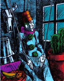 Puppet Clown, 1997; Screen print; Image: 260x205 mm
