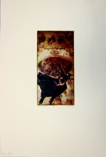 Margaret Craig; Bad Birds: Gloves and Gradze, 1996; Photo etching; Image: 263 mm x 132 mm