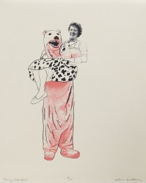 "Katherine Rowbotham; Nanny and the Bear, 2008; Digital inkjet; Object size: 252 x 201 mm; from the ""Kathryn: A Printmaker"" portfolio"