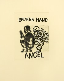 Broken Hand Angel, 2001; Etching; Image size: 303 x 225 mm