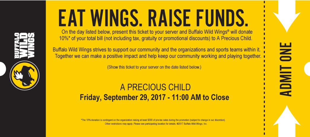 Buffalo Wild Wings Fundraiser On Friday