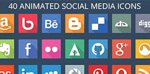 40 Animated SVG Social Media Icons for WordPress 5