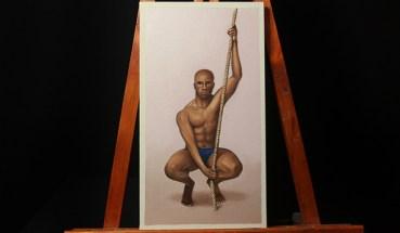 15- figura masculina al oleo